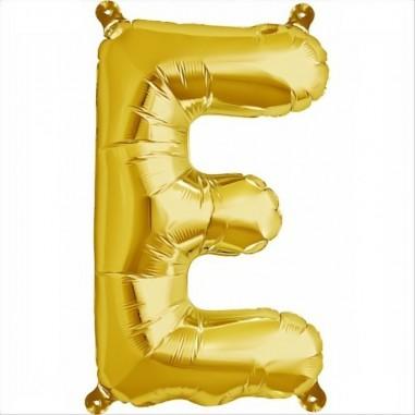 Balloon-foil letter E -Gold