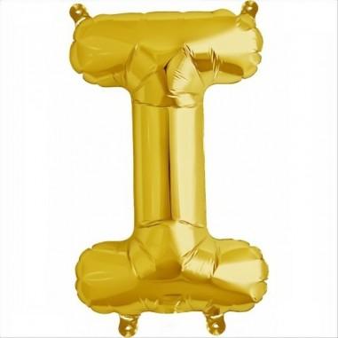Balloon-foil letter I -Gold