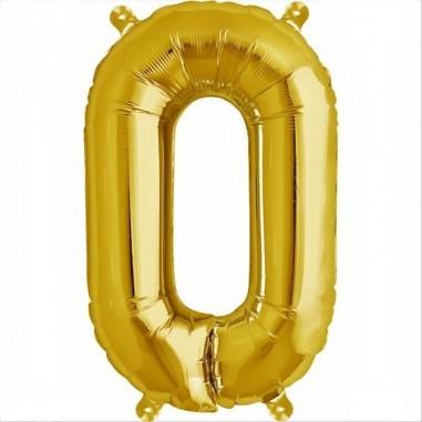 Balon folie litera O -Auriu