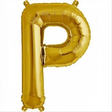 Balon folie litera P -Auriu