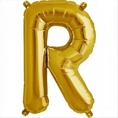 Balloon-foil letter R -Gold