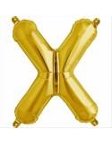 Balloon-foil letter X -Gold