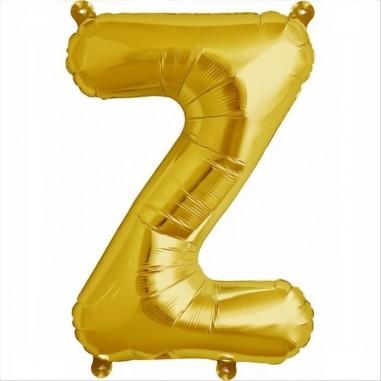 Balloon-foil letter Z -Gold