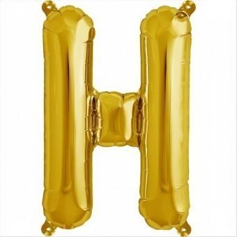 Balloon-foil letter H -Gold