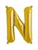 Balon folie litera N -Auriu