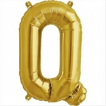 Balloon-foil letter Q Golden -