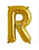 Balon folie litera R -Auriu