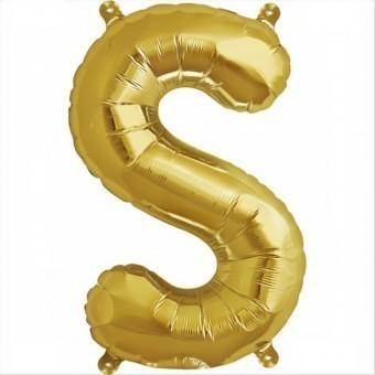 Balloon-foil letter S -Gold