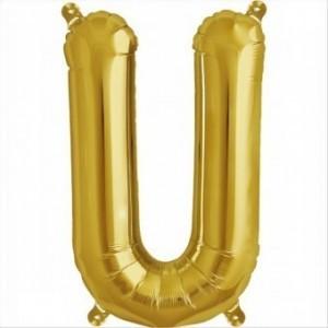 Balon folie litera U -Auriu