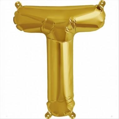 Balloon-foil letter T -Gold