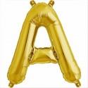 Balloon-foil letter A -Gold