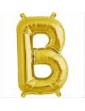 Balloon-foil letter B -Gold