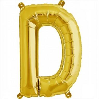 Balon folie litera D -Auriu