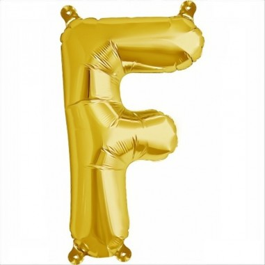Balloon-foil letter F -Gold