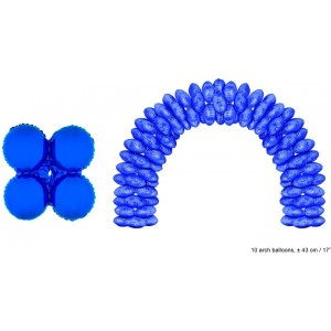 Balon folie albastru rotund 43 cm pentru arcade