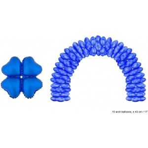 Balloon foil blue heart 43 cm for the arcade