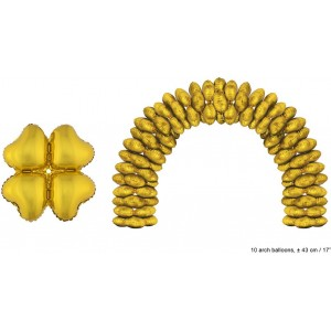 Balloon foil golden heart 43 cm for the arcade