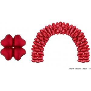 Balon folie rosu inima 43 cm pentru arcade