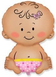 Foil balloons figurine Baby Pink 67cmX46cm