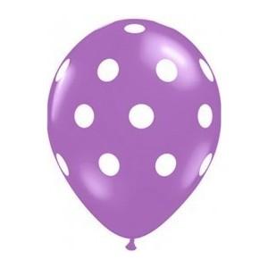 Balon latex violet cu buline 30cm