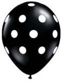 Balon latex negru cu buline 30cm