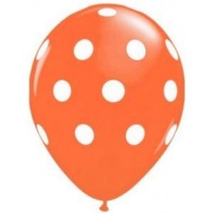 Balon latex orange cu buline 30cm