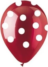 Balon latex burgund cu buline 30cm