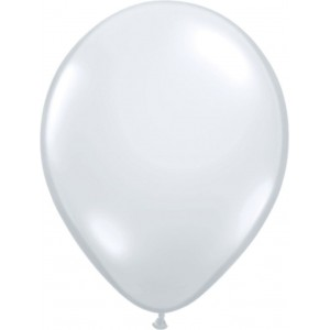 Balloons latex metallic transparent 30 cm