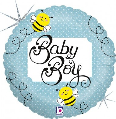BALOANE FOLIE 45 CM BABY BOY HOLOGRAPHIC AMBALATE