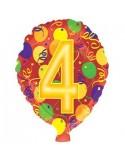Baloane folie 45 cm cifra 4