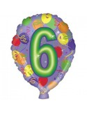 Baloane folie 45 cm cifra 6