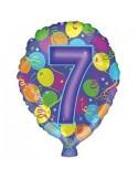 Baloane folie 45 cm cifra 7