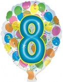 Baloane folie 45 cm cifra 8