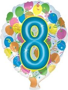 Foil balloons 45 cm figure 8