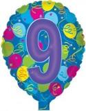 Baloane folie 45 cm cifra 9