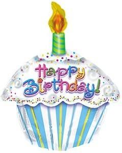 Baloane folie 45 cm HAPPY BIRTHDAY CUPCAKE
