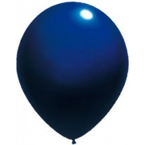Baloane latex standard 26 cm albastru inchis