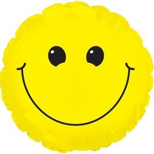 Foil balloons 45 cm Solid Yellow Smiley