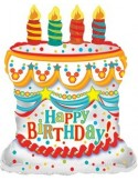 Foil balloons figurine White Birthday Cake 55cmx66cm