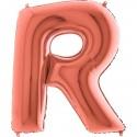 BALLOONS FOIL LETTER R ROSE GOLD