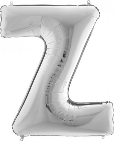 BALLOONS FOIL LETTER Z SILVER 100 cm