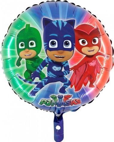 Baloane folie 45 cm eroi in pijamale