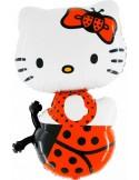 Foil balloons figurine HELLO KITTY LADY BUG 85cmx54cm