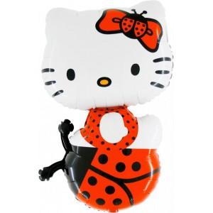 Baloane folie figurina HELLO KITTY LADY BUG 85cmx54cm