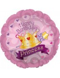 Foil balloons 45 cm Happy Birthday Princess
