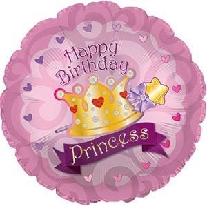 Baloane folie 45 cm Happy Birthday Princess