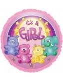 Baloane folie 45 cm Zoo Baby Girl