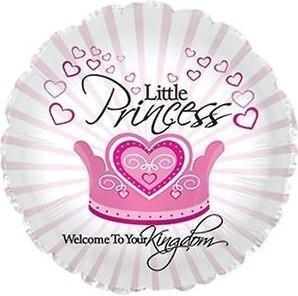 Foil balloons 45 cm Little Princess