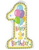Baloane folie figurina pastel 1 birthday 75cmx40cm