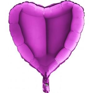 Baloane folie 45 cm simple inima Mov